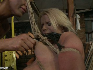 Mandy Bright tied a hawt blonde with rope