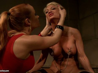 Katy Borman torturing a blond hottie honey