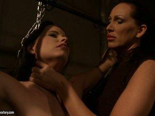 Mandy Bright hot slut choking a lusty sweetheart