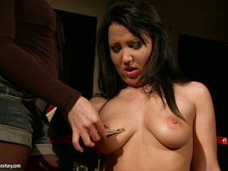 Kathia Nobili squeeze hawt sweetheart nips with a clothes movie scene