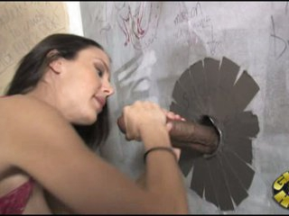 Mckenzie Lee rubbing a hard dick from the hole