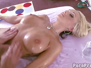 Nude Oily Boobs Massage And Pussy Pounding