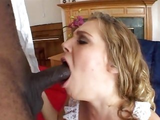 Dark meat lover Mysti May gobbles down a massive dick