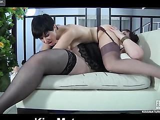 Caroline M&Mireille lesbo older movie