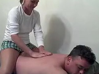 Skinny brunette riding cock
