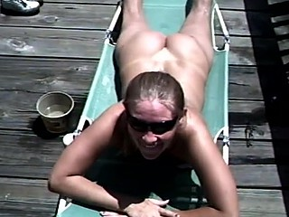 Blowjob and cum in mouth outdoors