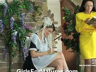 Lillian&Ninette lesbo aged clip