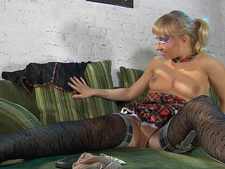 Janet showing her nylons
