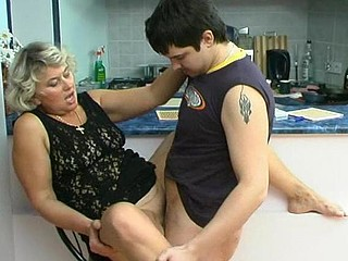 Margaret&Adam horny mama on movie scene