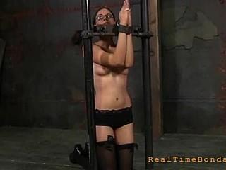 Sexy cutie gets bound hard