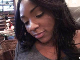 ebony babe persia tries on her new clothes for boyfriend