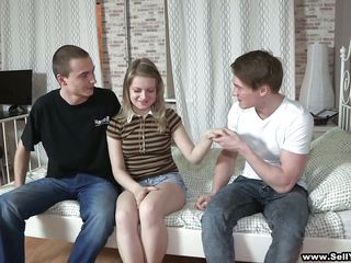 boy sells teen gf to another man, then watches!!!