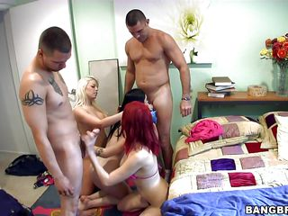 hot group fuck in dorm room