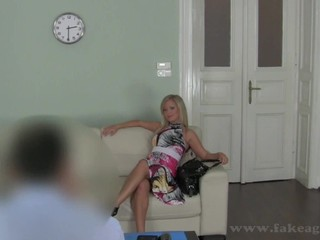 Amorous love-seat pounding for smoking hot blonde Briggi