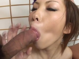 Lovely Oriental enjoys wild pleasures from racy hawt team fuck