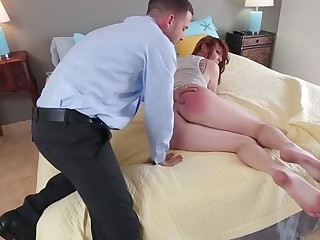 Leigh Rose in Step Dad Disciplines Leigh  - PunishTeens
