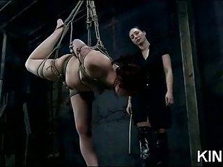 Lascivious Babe In Bondage