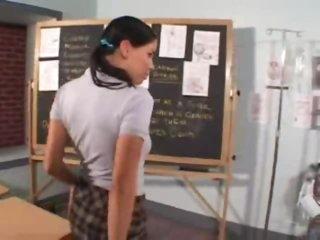 Her teacher wants a blowjob