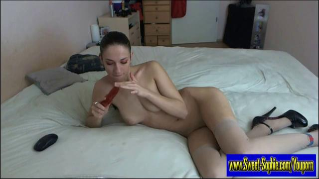 German Girl tells you how to wank of