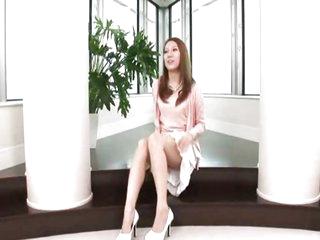 Brunette Asian cutie tries goo