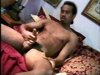 Two guys stroking