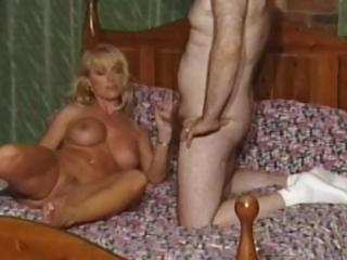British slut Louise Hodges receives fucked by fat bald guy