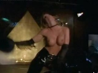 Sensual Stephanie Hudson Dancing In a Hawt Leather Cowgirl Outfit