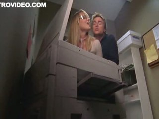 Blond Bombshell Baelyn Neff Gets Banged Against The Copier