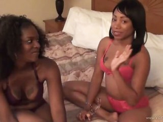 Jordan Lovee & Layla Luv Are Two Sexy Ebony Lesbians