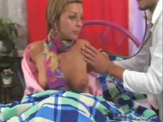 Stunning Blond Slut Gets Sixty-Nined and Fucked By Slutty Male Nurse