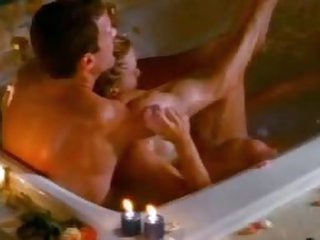 Breasty Softcore Actress Michelle Hall Gets a Soapy Fuck In The Bathtub