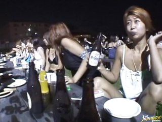 Insanely Hot All-Asian Gangbang Outdoors