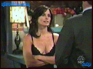 Beautiful Courteney Cox Looks Awesome In a Sexy Dark Negligee