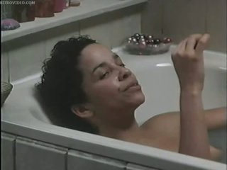 Busty Ebony Star Rae Dawn Chong In nature's garb In The Bathtub