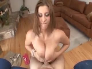 Curvy beautiful gal titjob and POV sex