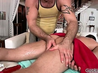 Hunky guy gets butthole rimmed 1 By GotRub
