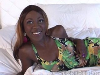 Ebony Teen w Nice Body & Big Clit in Amateur POV Video