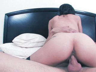 Tiffany Thompson in black nylons gets her pussy boned