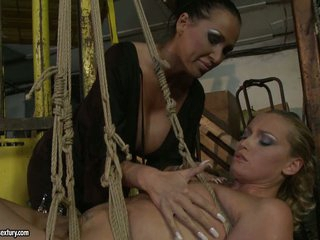 Kathia Nobili and Mandy Bright have a fun the rough play