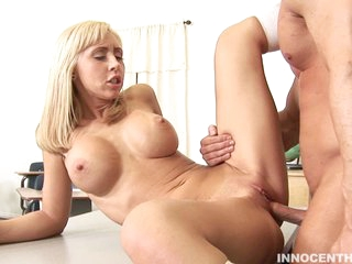 Jessica Lynn gets her fresh bald cunt pounded savagely out of mercy.