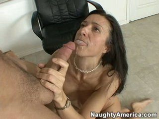 Gina Rome can't live without the smack of warm sticky jizz sprayed into her hot mouth