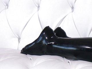 Katie Jordin likes big dick and black latex