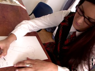 Ann Marie La Sante and Mira Sunset are two student girls that are too sexy in their uniform. Professor can't miss his chance to fuck the girls. But he has to lure them into sex action at first!