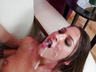 Alluring Lizz Tayler is splattered in cum