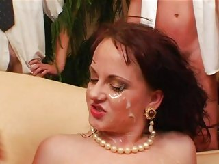 Alluring Anita Blue gets splashed in cock sauce