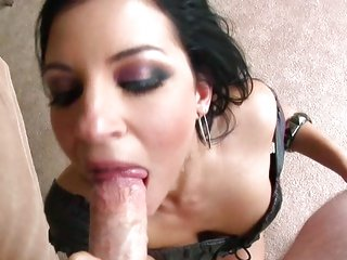 Tori Lux takes a hard dick down her slippery throat