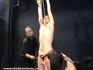 Painful torture with an abused slave