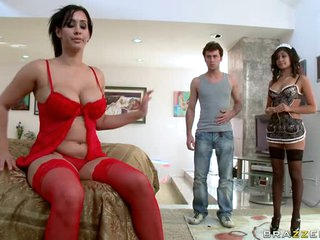 Deep Throated MILF Isis Love Gets Fucked Doggy Style In Stockings