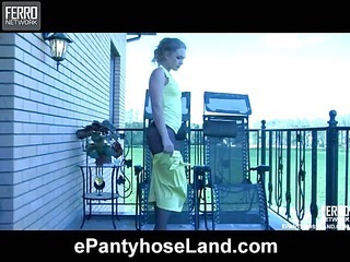 Linda featured in pantyhose video