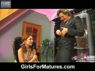 Leonora&Stephanie pussyloving mature on video